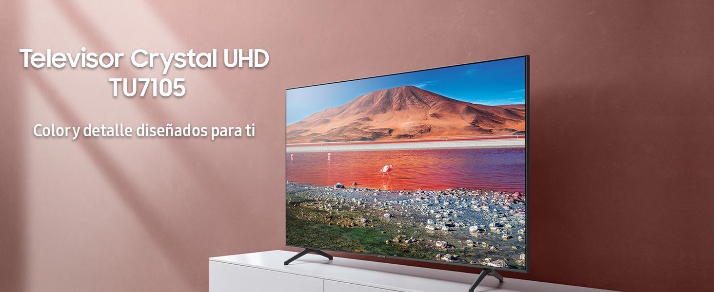 Televisor Samsung Crystal UHD 2020 55TU7105- Smart TV